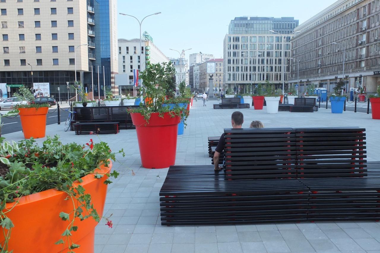 Plac Powstancow Warszawy poremoncie, lipiec 2014 r. fot.Jarek Zuzga